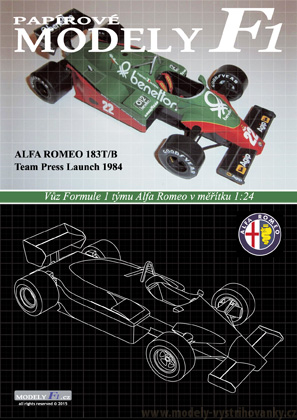 Alfa Romeo 183T-B - Press launch 1984 - Patrese, Cheever