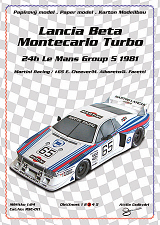 Lancia Beta Monte Carlo Turbo - 24 h Le Mans Group 5 - 1981